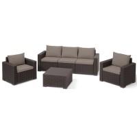 Набор мебели California 3 seater коричневый