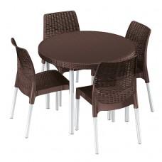 Комплект мебели Jersey set коричневый