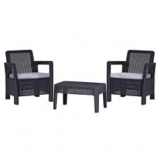 Комплект мебели Tarifa Balcony Set антрацит
