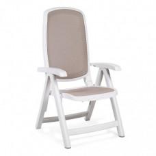 Кресло пластиковое Delta бело-бежевое