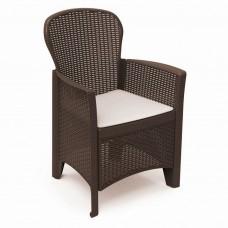 Кресло Folia коричневое