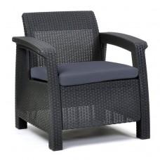 Крісло Corfu Duo сіре