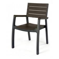 Кресло Harmony armchair cерый с коричневым