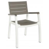 Кресло Harmony armchair бело-бежевое