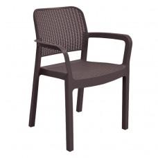 Кресло пластиковое  Samanna коричневое