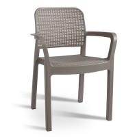 Кресло пластиковое  Samanna бежевое