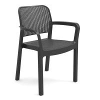 Кресло пластиковое  Samanna серое