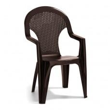 Кресло пластиковое  Santana коричневое