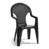 Кресло пластиковое  Santana серое