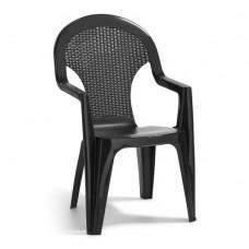 Кресло пластиковое  Santana антрацит