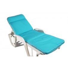 Матрац для шезлонга Quadro блакитний меланж FL-313306