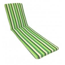 Матрас для шезлонга eGarden Verrano вертикальная зеленая полоска