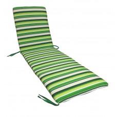 Матрас для шезлонга eGarden Verrano зеленая полоска