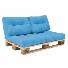 Комплект подушек Paletta для паллет-дивана голубой