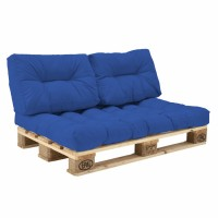 Комплект подушек Paletta для паллет-дивана синий