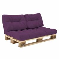 Комплект подушек Paletta для паллет-дивана фиолетовый