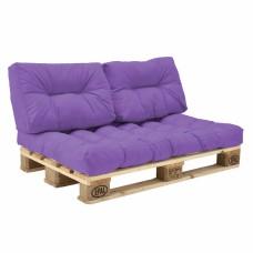 Комплект подушек Paletta для паллет-дивана сиреневый