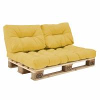 Комплект подушек Paletta для паллет-дивана желтый
