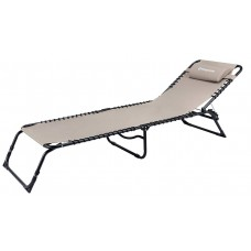 Шезлонг KingCamp Adjustable Camping Cot KC3913 light coffee
