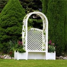 Садовая лавка с плантаторами HW-10