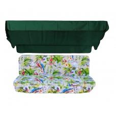 Комплект для гойдалки eGarden Loros Rojo 170 темно-зелений тент