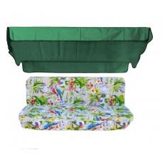 Комплект для гойдалки eGarden Loros Rojo 170 зелений тент