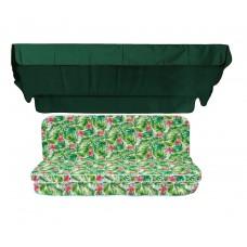 Комплект для гойдалки eGarden Caribe темно-зелений тент