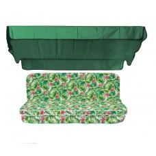Комплект для гойдалки eGarden Caribe зелений тент