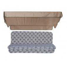 Комплект подушок до гойдалки eGarden Diva 170x110x7 з кавовим тентом 120х200