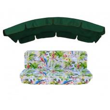 Комплект для гойдалки eGarden Loros Rojo 180 темно-зелений тент