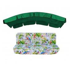 Комплект для гойдалки eGarden Loros Rojo 180 зелений тент