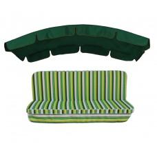 Комплект для гойдалки eGarden Verrano 180 темно-зелений тент