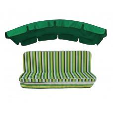 Комплект для гойдалки eGarden Verrano 180 зелений тент