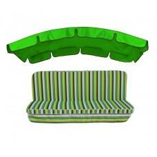 Комплект для гойдалки eGarden Verrano 180 тент трава (яскраво-зелени)