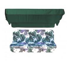 Комплект для гойдалки люкс eGarden Orchid 170 зелений тент