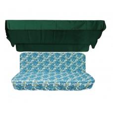 Комплект для гойдалки eGarden Savanna 170 темно-зелений тент