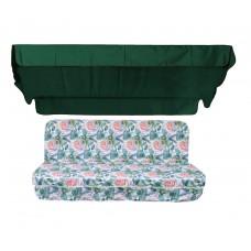 Комплект для гойдалки люкс eGarden Tahiti 170 зелений тент