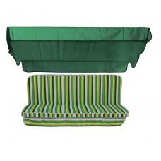 Комплект для гойдалки eGarden Verrano 170 см зелений тент
