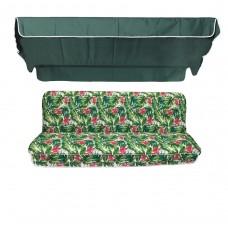 Комплект для качелей eGarden Caribe темно-зеленый тент