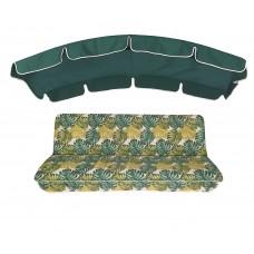 Комплект для качелей eGarden Fauna 180 темно-зеленый тент