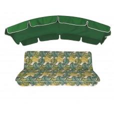 Комплект для качелей eGarden Fauna 180 зеленый тент