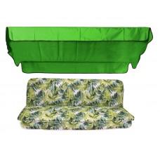 Комплект для качелей eGarden Jungla  тент трава (ярко-зеленый)