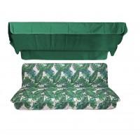 Комплект для качелей eGarden Tropic зеленый тент