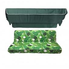 Комплект для качелей eGarden Palma темно-зеленый тент