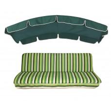 Комплект для качелей eGarden Verrano 180 темно-зеленый тент