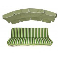 Комплект для качелей eGarden Verrano 180 салатовый тент