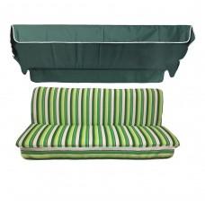 Комплект для качелей eGarden Verrano темно-зеленый тент