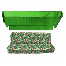 Комплект для гойдалки eGarden Caribe тент трава (яскраво-зелений)