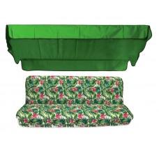 Комплект для качелей eGarden Caribe зеленый тент