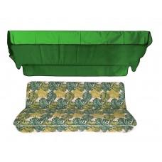 Комплект для гойдалки eGarden Fauna 170 см зелений тент